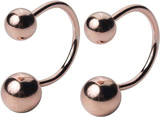 Minimalist Ball Half Hoop Earrings Sterling Silver Rose Gold Ear Cuff Wrap Helix Cartilage Earring Non Piercing for Women Girls