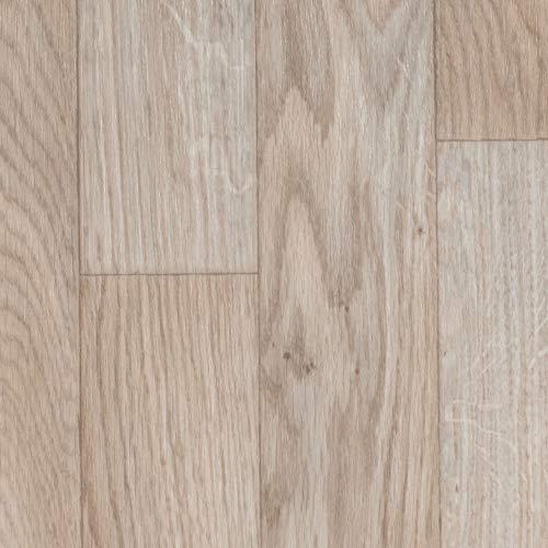 PVC Bodenbelag Schiffsboden Eiche | Vinylboden in 2m Breite & 5m Länge | Fußbodenheizung geeignet | Vinyl Planken strapazierfähig & pflegeleicht | Fußbodenbelag Gewerbe/Wohnbereich