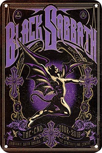 Forry Black Sabbath Metall Poster Retro Blechschilder Vintage Schild Zum Cafe Bar Garage Wohnzimmer Schlafzimmer Haus Restaurant Hotel