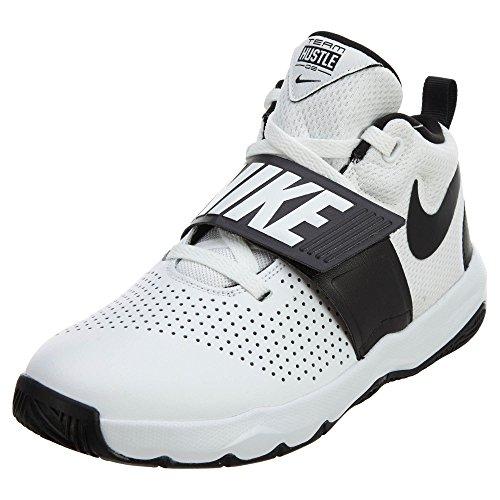Nike Team Hustle D 8 (GS), Zapatos de Baloncesto para Niños, Blanco (White/Black 100), 37.5 EU