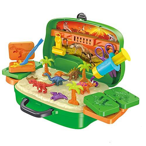 ねんど 恐竜シリーズおもちゃ プラスチシン 粘土DIYセット8色セットおままごと 収納ボックス知育玩具