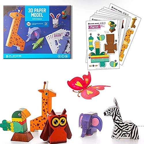 Papel para Papiroflexia, 10 Hojas Kit de Origami, Manualidades de Origami, Color kit de Origami, Colorido kit de Origami para Niños, Adecuado Para Niños/Clase De Manualidades Escolares