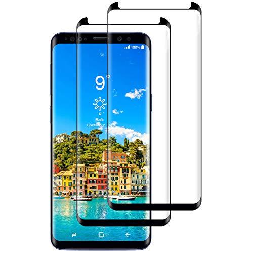 Miuphro[2-Pack Protector de Pantalla Samsung S9 Plus, Cristal Templado Compatible con Samsung S9 Plus,[Fácil de Instalar] [Resistente a los arañazos] [9H Dureza] [Anti-Aceite]