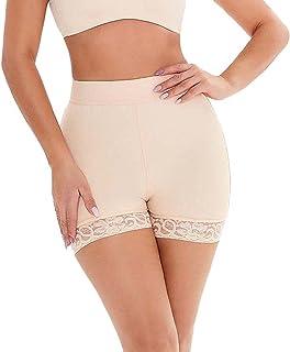 سراويل رفع المؤخرة للنساء وسائد الورك ملابس داخلية لتحسين الأرداف سراويل التحكم غير مرئية (اللون: بيج، الحجم: 4XL)