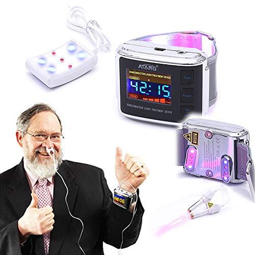ATANG Lasertherapie Uhr Laser Akupunktur Bluthochdruck Diabetes Cholesterin Rhinitis Behandlung Hirnthrombose Medizinprodukt
