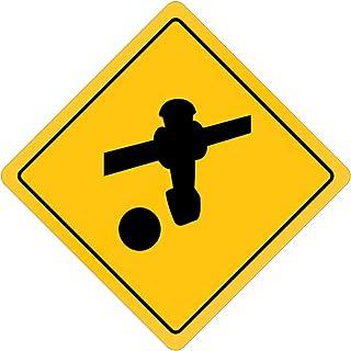 Eddany Foosball Crossing Sign 16'' x 16''