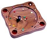 LOGOPLAY Tiroler Roulette - Kreiselspiel - Geschicklichkeitsspiel - Gesellschaftsspiel - Brettspiel aus Holz