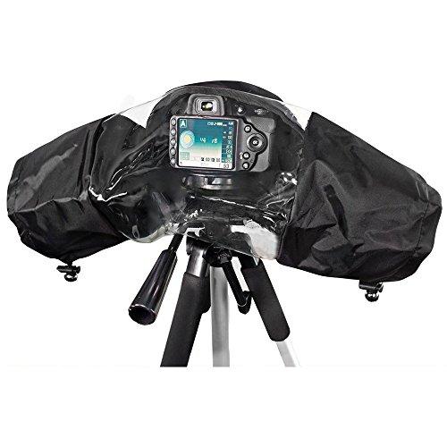 kingwon cámaras lluvia chaqueta abrigo de lluvia impermeable Escudo protección funda de lluvia para Canon, Nikon, Sony, Olympus, Panasonic y Pentax cámaras réflex digitales lente pantalla accesorios