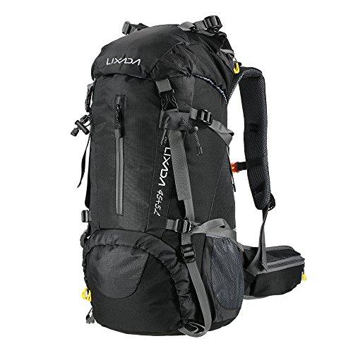 Lixada Trekkingrucksack Wanderrucksack Reiserucksack Rucksack 50L/60L Wasserabweisend mit Regen Abdeckung