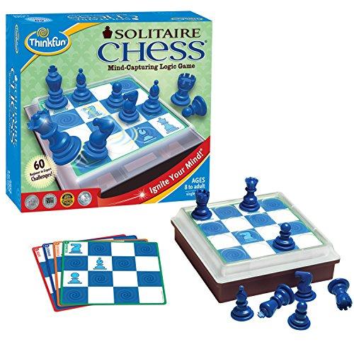Think Fun Solitaire - Juego de ajedrez [Importado de Reino Unido]