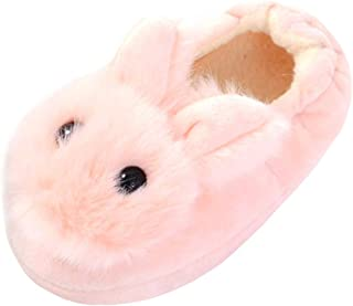 Beeliss Toddler Girls Slippers Cartoon Plush Warm Shoes