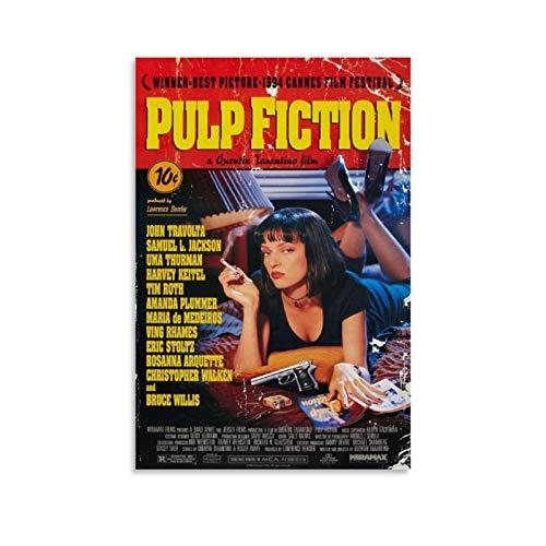 DSGFR Pulp Fiction poster classico film decorativo su tela di canapa di arte della parete del soggiorno poster camera da letto 30 x 45 cm