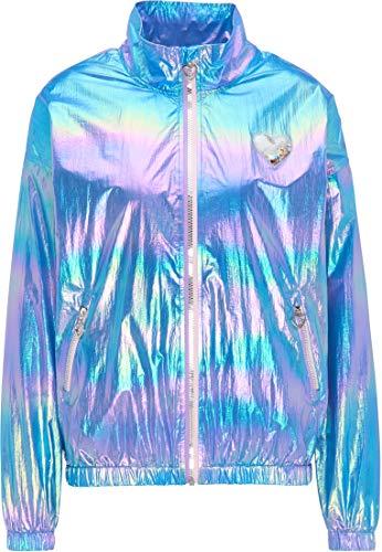 myMo Holographic Blouson Damen 12305786 blau holografisch, L