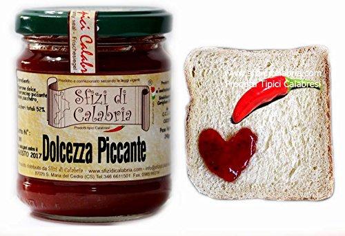 Ottima sui formaggi stagionati Da provare sulle carni bollite/arrosto Una delicatezza dolcemente piccante Prodotto top nei tipici di Calabria per Buongustai Consigliato per palati fini ed esigenti