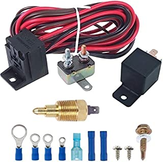 American Volt Electric Engine Fan Grounding Thread-in Thermostat Relay Controller Switch Kit (3/8