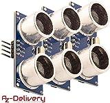 AZDelivery 3 x Sensor HC-SR04 de Distancia Modulo Ultrasonico para Raspberry Pi y Arduino con E-book incluido!