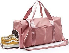 LATIT Bolsa de Gimnasio separada en seco y húmedo, Bolsa de Deporte Impermeable con Compartimento para Zapatos, Bolsa de Hombro, Bolsa de Viaje, Bolsa de Deporte Grande para Hombres y Mujeres