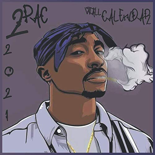 2pac Wall Calendar 2021: 8.5 x 8.5 inch monthly square Wall Calendar - 16 months - (January 2021 - April 2022)