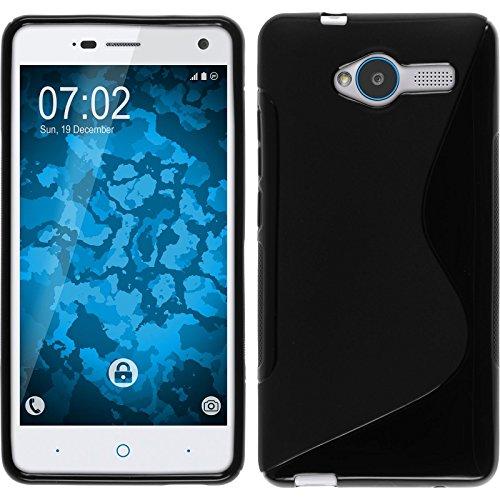 PhoneNatic Case kompatibel mit ZTE Blade L3 - schwarz Silikon Hülle S-Style + 2 Schutzfolien