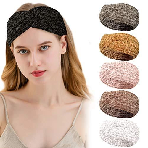 Maxee Damen Stirnband Headband, Criss Cross Elastic Stirnbänder ,Elastisches Stirnband, Modisches Haarschmuck, Kosmetische Stirnbänder zum Waschen,Elastisches...