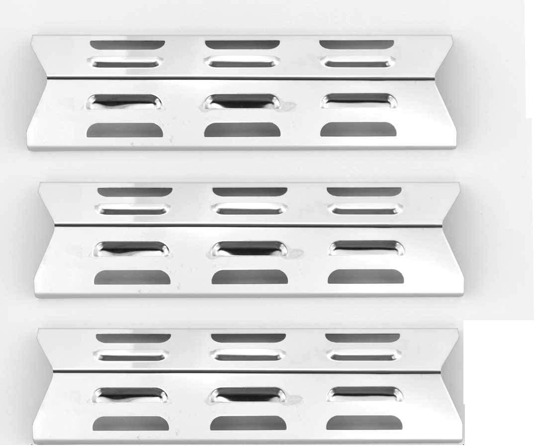 3 Max 72% OFF Pack Replacement Stainless Steel Plate GSF2616 Sale Special Price Heat BBQTEK for