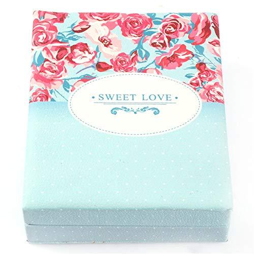 ZYC Caja de regalo de joyería para mujer, de piel, rectangular, caja de almacenamiento, caja de regalo, regalo