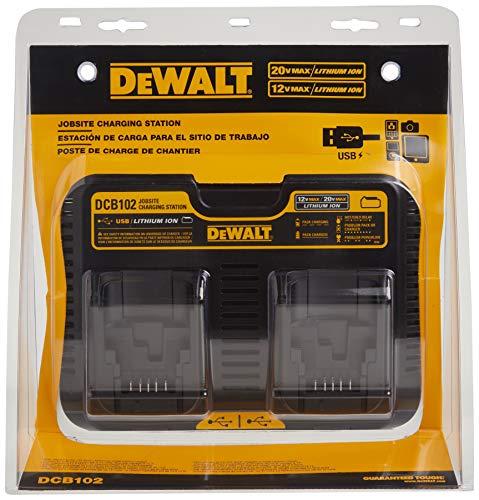 DEWALT 12/20V MAX Charging Station/Dual Charger for Jobsite (DCB102)