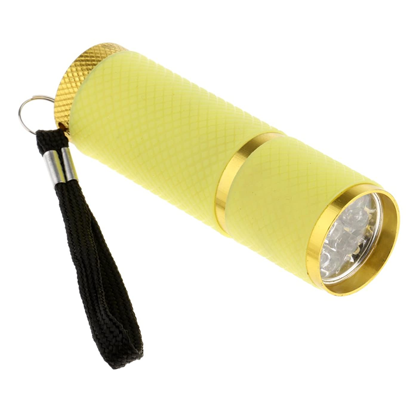 イタリック疑い者旋律的Homyl ネイルドライヤー ミニ 9 LED  4.5V  ドライヤー 手と足 両方に使用 UV プロ ネイルサロン 家庭用 4色選べ - 黄