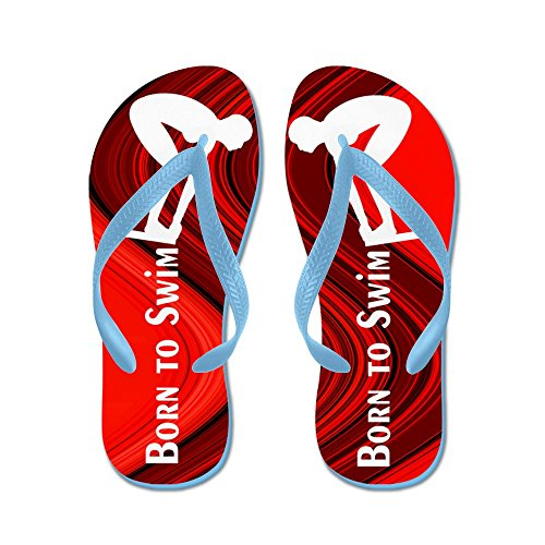 CafePress - Best Swimmer - Flip Flops, Funny Thong Sandals, Beach Sandals Caribbean Blue