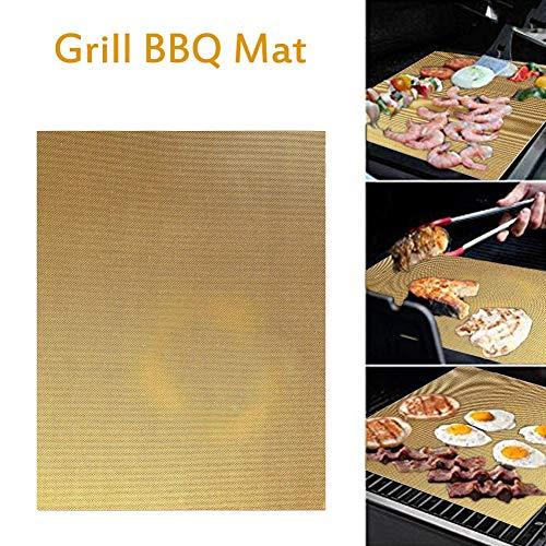 BBQ Grillmatten, BBQ Grillschalen Antihaft Grill Backmatte - Maut über Kohle, Gas Dampfofen und Elektrischer Ofengrills - Perfekt für Fleisch, Fisch und Gemüse 40 x 33 x 0,02 cm