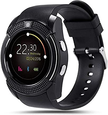 NALMAK V8_G3 Model_TR1 Bluetooth Smartwatch with 4.1 Message Push   Sedentary Reminder   Pedometer   Sleep Monitoring Wristband Compatible with All Android, iOS & Windows Device-Black