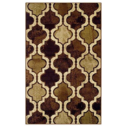 SUPERIOR Eret Indoor Area Rug, Super Soft, Durable, Elegant, Geometric, Trellis Pattern, Mid-Century, Contemporary, Jute Backing, Coffee, 5
