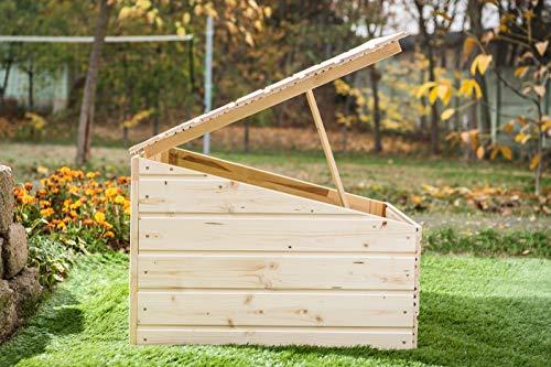 Mähroboter Garage aus Holz – Carport für Rasenroboter - 6
