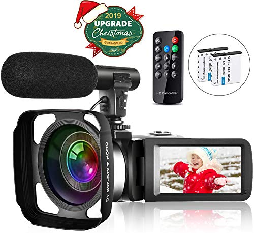 Video Camera Camcorder Vlogging Camera for Youtube Full HD 2.7K 30FPS 30 MP IR Night Vision 3 Inch...