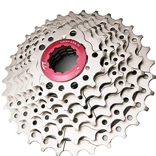 Rueda Libre MTB De 8 Velocidades 8S 11-32T Cassette De Bicicleta Piñón De Rueda Libre Plateado 332g Adecuado para M410 M360 M310 M280