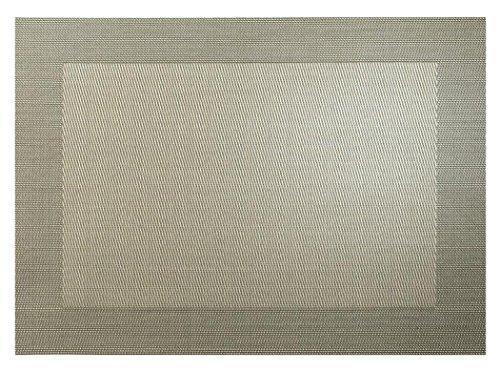 ASA Selection Set de table en PVC avec bord tissé bronze métallique