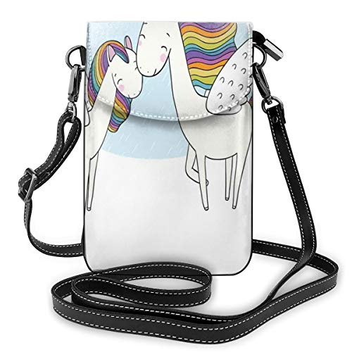 Women Small Cell Phone Purse Crossbody,Pegasus Horses With M