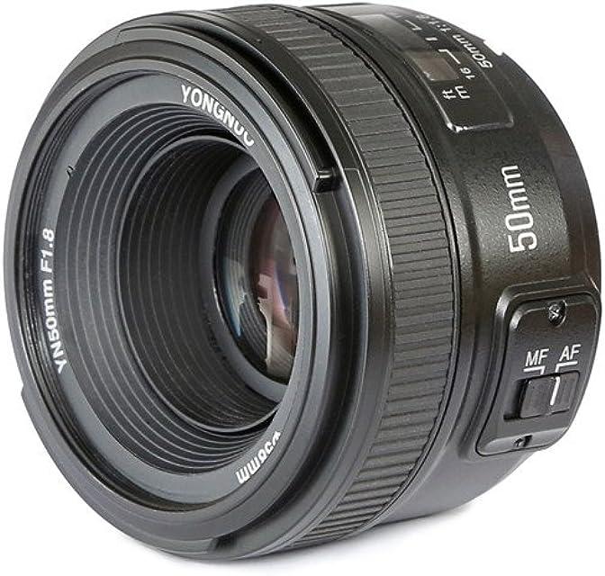 Yongnuo YN50MM - Objetivo para cámaras Nikon  DSLR (f/1.8 58 mm AF/MF) Negro