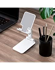 Decdeal Cell Phone Stand Foldable Angle Height Adjustable Stable Portable Desktop Stand Compatible with Mobile Phone/iPad/Tablet