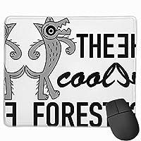【2021新款】マウスパッドthe Cool Forest Wolf Wild Life マウスパッドゲーミングマウスパッド大型ゲーミング滑り止めハイエンド流行のファッション防水耐久性滑り止めラバーボトム 25*30cm