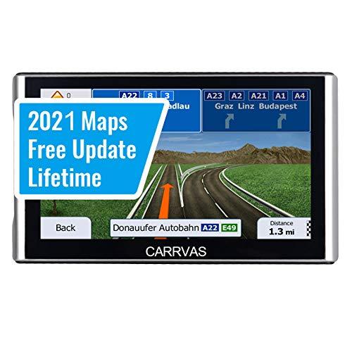 GPS Navi Navigationsgerät für Auto CARRVAS GPS Navigation für PKW Spracherinnerung 7 Zoll Vorinstallieren EU 2021 Neueste Karten Lebenslang Kostenloses Kartenupdate