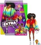 Barbie- Muñeca Extra 2 con un Look Brillante y cachorrito de Mascota (Mattel GVR04)...