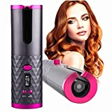 Cordless Automatic Hair Curler Portable Electric Wand Curling Iron with LCD Temperature Display Fast Heating Auto...