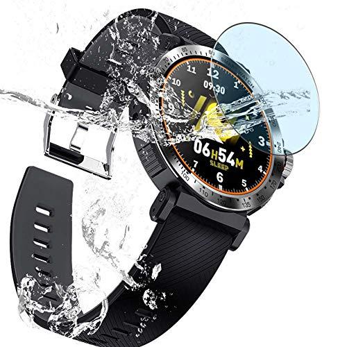 Vaxson 3 Unidades Protector de Pantalla Anti Luz Azul, compatible con Smartwatch Smart Watch K18 [No Vidrio Templado] TPU Película Protectora
