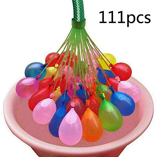 YFFS Wasserballon Erstaunliche Füllung Magic Ballon Kinder Wasser Krieg Spiel Liefert Kinder Sommer Outdoor Strand Spielzeug Party 111pcs