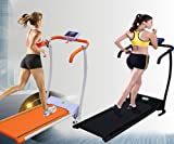 Goplus New Folding Electric Treadmill Portable Sports Fitness Home Workout (Black)