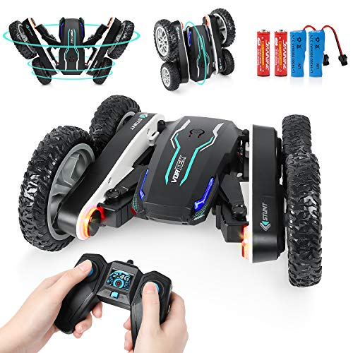 RC Cars Stunt Car Toys - Remote Control Car High Speed Toy Car for Boys, Double Sides 360° Rotating RC Race Car with Headlights, Boys Toys for 6-12 Years Old Kids Birthday Xmas Gift with All Batteries