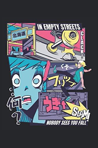 Vaporwave Skateboard Anime 120 Seiten Notizbuch im A5-Format für Anime-Liebhaber (6 x 9 Zoll): Booklet Journal als Geschenkidee für Anime-Fans