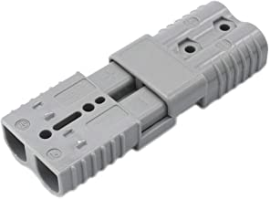 X-Haibei Pair 175 amp 2 Gauge Battery Quick Connector Gray, Jumper Cables Connect Disconnect Plug for Trailer
