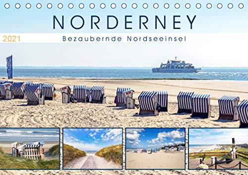 NORDERNEY Bezaubernde Nordseeinsel (Tischkalender 2021 DIN A5 quer)